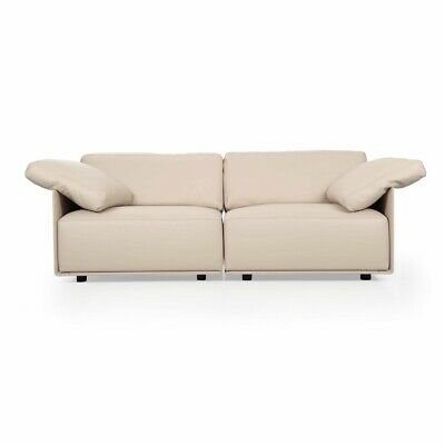 "Modern Leather Loveseat Sofa ""Cassiopea"" by Lievore Altherr Molina, Italy c.2008"