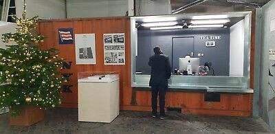 Cargo Container - Office Reception Desk With Sectioned Of Office