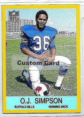 536868419 O.j. Simpson Buffalo Bills Running Back 1967 Style Custom Made Football  Card  2