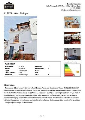 3 Bed Townhouse In Velez-Malaga, Spain