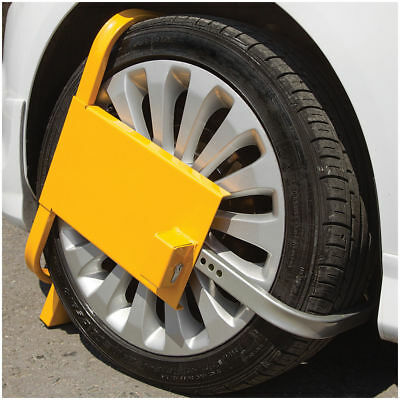 Heavy Duty Wheel Clamp Safety Lock For Car,van Caravans,trailers (Uk Stock)