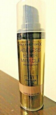 Max Factor Ageless Elixir Miracle Foundation Serum 2 in 1 WARM ALMOND New Sealed