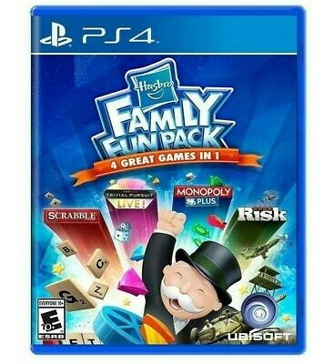 Hasbro FAMILY FUN PACK (PlayStation 4, 2015) BRAND NEW SEALED   Fast Shipping>