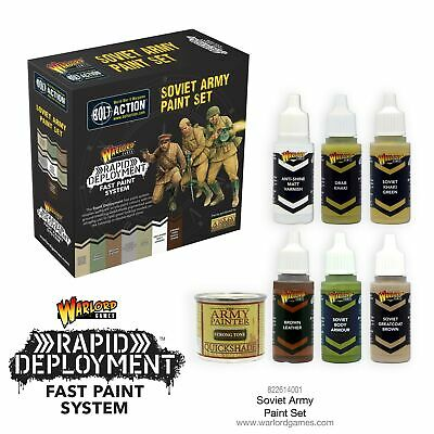 Bolt Action Soviet Paint Set Warlord Games Brand New WGS-822614001