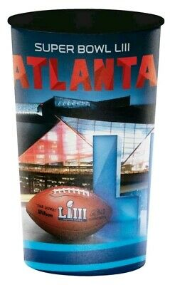 Set Of 4 Atlanta 2019 Super Bowl Liii 22 Oz Party Cups Reusable And Washable New