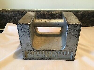Vintage Fairbanks Morse 25 Lb. Test Weight