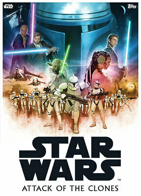 Topps Star Wars Card Trader Celebrate Saga Movie Posters BLACK Attack of Clones