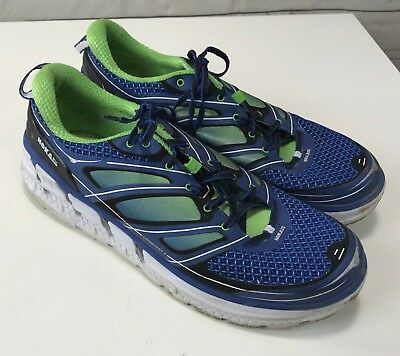 a03e3b249036f HOKA ONE ONE Mens Conquest Running Shoes Green Blue Size 13 US ...