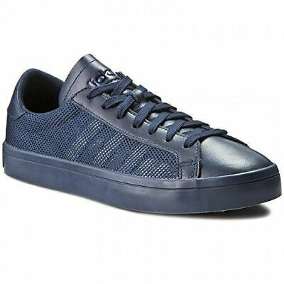 ADIDAS ORIGINALS MEN'S COURT VANTAGE TRAINERS NAVY SNEAKERS