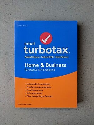 NEW TurboTax 2018  Home and Business Fed+State+eFile (PC/MAC Disc)