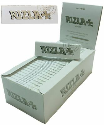 Rizla White Single Smooth Smoking Cigarette Tobacco Thick Rolling Papers Packs