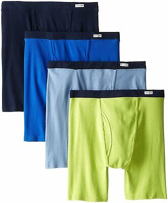 Fruit of the Loom Men's Boxer Briefs 4-Pack Sizes 2X 3X Assorted Colors