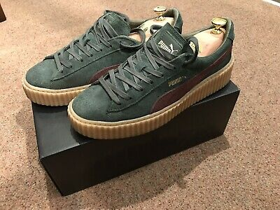 official photos d806d 769f0 FENTY X PUMA Suede Creepers By Rihanna Green Bordeaux - Size: 9UK