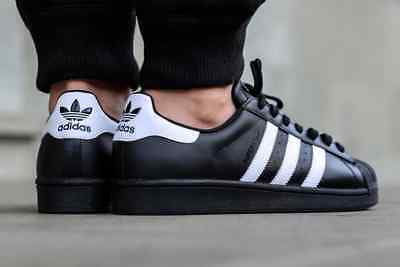 918adce18d04 Mens Adidas Superstar Foundation OG UK Size 12 Black White Leather Trainers