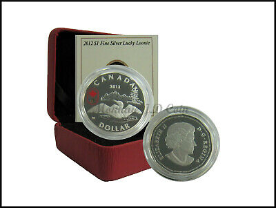 2012 Canada $1 Lucky Loonie Proof Silver Dollar Coin Tax Exempt