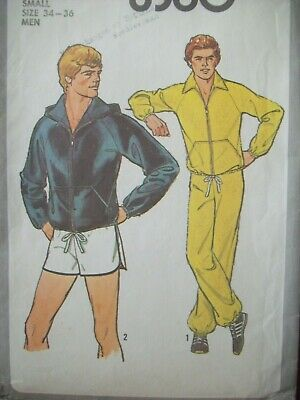 Simplicity Pattern 8360 Unlined Jacket Optional Hood Pants Shorts Cut Size 34-36