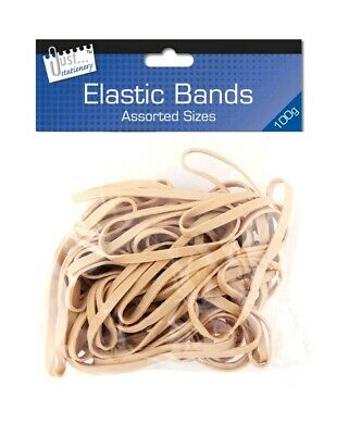 100g Strong Elastic Rubber Bands Assorted Size For Home School Office