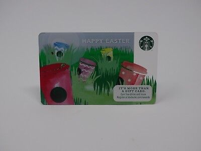 """2014 """"Easter"""" Starbucks Card - New & Never Swiped - Pin Intact - 1st Easter Card"""