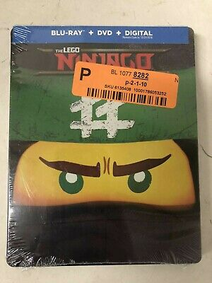 The Lego Ninjago Movie Steelbook (Blu-RayDVD, 2018, Digital) NEW