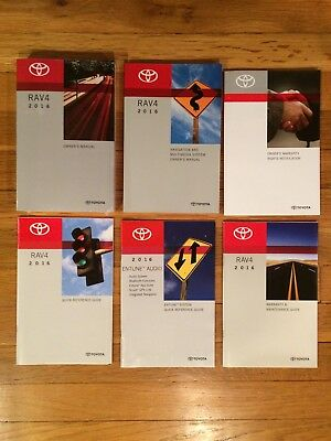 2016 Toyota Rav4 Owners Manual Set With Navigation Book Oem
