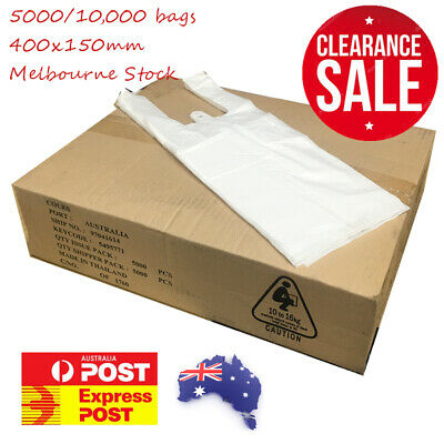 CLEARANCE 5000 SMALL Plastic Singlet Grocery Shopping Checkout Bags AU BULK BUY