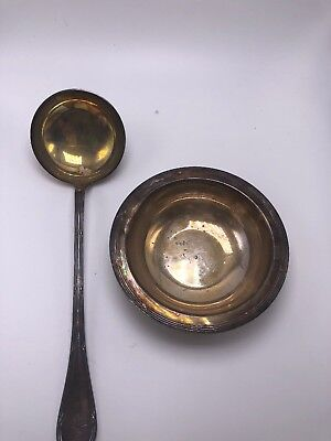 Vintage Christofle France Cluny? Silverplate Nut/Candy/Soup/Sugar Bowl & Spoon