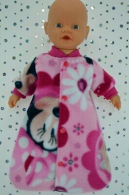 "Play n Wear Dolls Clothes For 13"" Little Baby Born/Mommy PRINTED SLEEPING BAG"