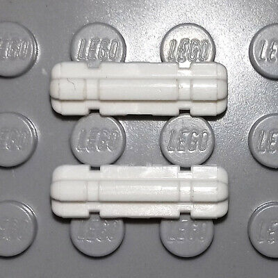 LEGO TECHNIC PART 32062 - AXLE 2 NOTCHED x 2, WHITE - RARE, GREAT COND 8010 8009