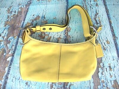 00dc3c701f4b Coach Canary Yellow Leather Hobo Convertible Shoulder Crossbody Bag F13354