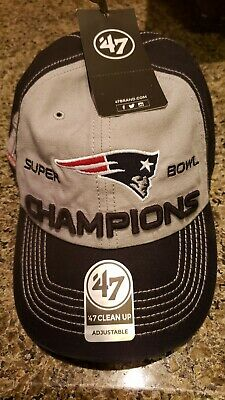 47 Brand Super Bowl Lii New England Patriots Champions Hat Brand New f7ebc995d
