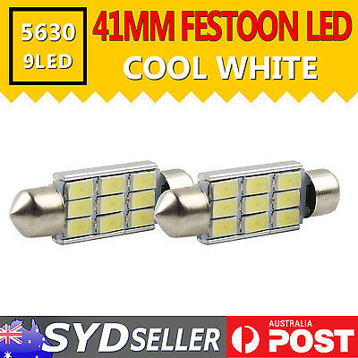 2x 41MM Car Interior Festoon Dome LED Roof Light 5630 SMD SUV Number Plate Bulbs