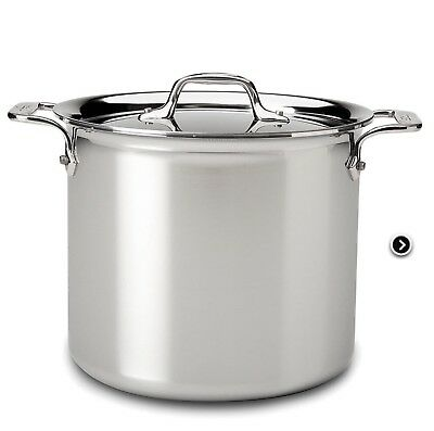All-Clad BD55512 D5 Brushed 18/10 Stainless Steel 5-Ply 12-Qt Stock Pot with Lid