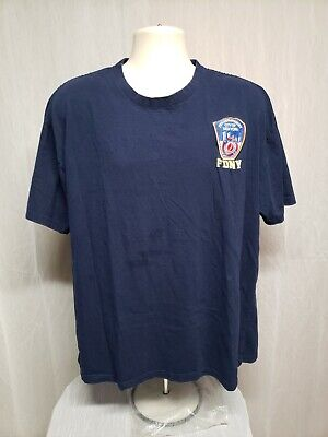 Officially Licensed FDNY Fire Department of New York Adult Blue XL TShirt