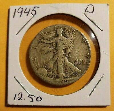 1945 D Liberty Walking Half Dollar Very Good/ DISCOUNTED