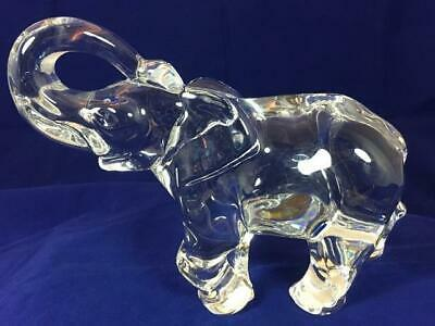 Baccarat Gorgeous Crystal Elephant Trunk Up Figurine
