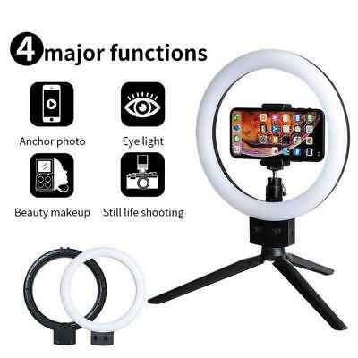 "Vamery 7"" LED Ring Light Dimmable LED Lighting Kit For Makeup Youtube Live"