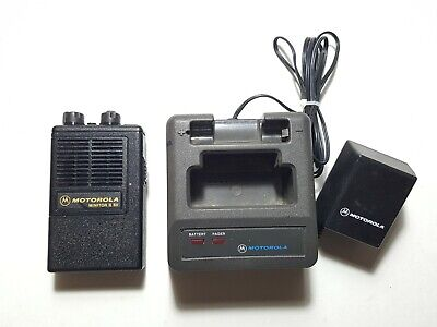 Motorola Minitor II SV (STORED VOICE) VHF 154.400MHz FIRE EMS PAGER W/CHARGER