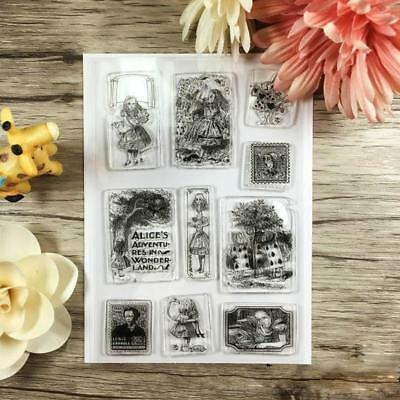 Portrait Transparent Silicone Stamp Clear DIY Scrapbooking Craft Stamps