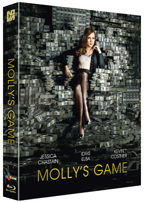 """""""   Molly's Game """"  Blu-ray LENTICULAR FULL SLIP (700 NUMBERED)"""
