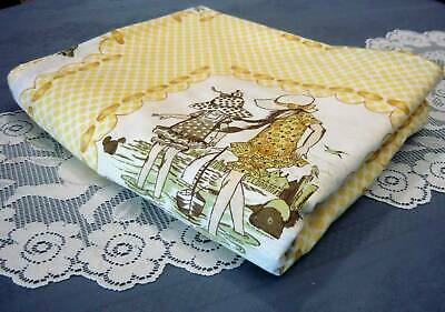 Vintage Holly Hobbie Quilt Cover (Yellow Tonings) Single