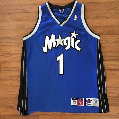 quality design f873d 57e43 VINTAGE AUTHENTIC TRACY McGrady Orlando Magic Champion Jersey Large 44 NBA  Blue