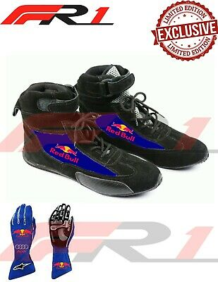 karting shoes for redbull racing fans exclusive with kart racing gloves