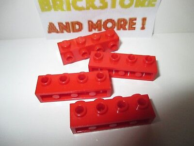 4x Brick brique modified 1x4 4x1 30414 red//rouge//rot Lego