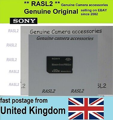 Original Genuine 512MB Memory Stick Pro Duo 512 MB for Sony Cybershot Camera