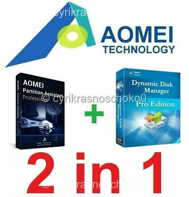 AOMEI Partition Assistant Pro + Dynamic Disk Manager Pro - Latest Version - ESD