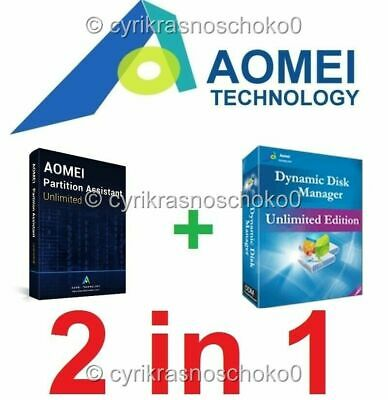 AOMEI Partition Assistant Unlimited + Dynamic Disk Manager Unlimited- Latest ESD