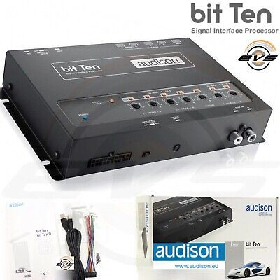 Audison Bit Ten Processore Audio Digitale Ingressi Hi Level Uscite 5 Canali RCA