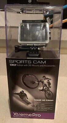 Xtreme Pro XP1080-10 HD 1080p Sports Camera Black with 20 Mounts and Accessories