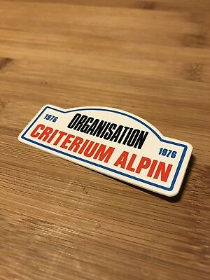 Badge avec épingle Mini Plaque Critérium Alpin ( no rallye monté carlo )