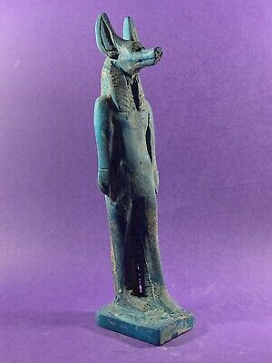 Very Beautiful - Circa 1370-770Bce Ancient Egyptian Stone Anubis Statuette